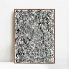 "Framed Canvas Art Number 19 1948 by Jackson Pollock Wall Art Decor 24""x32"""