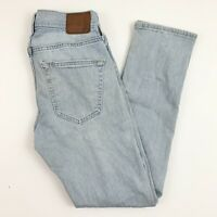 Abercrombie & Fitch Bleached Light Wash Mens Langdon Slim Stretch Jeans 28x30