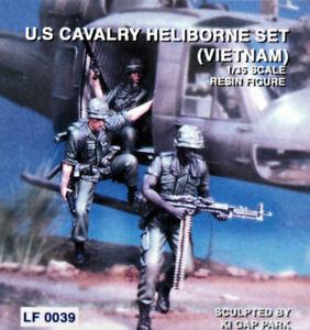 LEGEND LF0039 1/35 VIETNAM US CAVALRY HELIBORNE SET - 3 RESIN MODEL KIT FIGURES