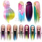 Salon Colorful Hair Mannequin Practice Training Head Hairdressing & Clamp
