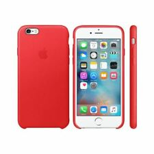 Original Genuine Apple iPhone 6S 6 Leather Back Cover Case - Red MKXX2ZM/A Boxed