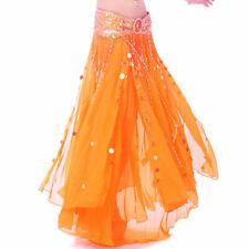 C235 Bauchtanz Kostüm Rock mit golden Scheiben Belly Dance Skirt