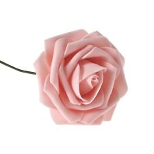 Artificial Foam Roses Flowers With Stem Wedding Bride Bouquet Party Decor