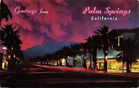 Palm Springs California~Palm Canyon Drive~Neon Nights~1981 Postcard