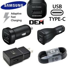 Original Samsung Galaxy Note8 S8 S9+ OEM Fast Car Wall Charger 4FT Type-C Cable