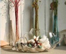 Large Clear Glass HandmadeTerrarium 45 cm vase Sea Shell Fruit Platter Bowl