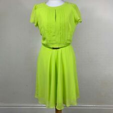 Dorothy Perkins Dress Yellow UK Size 10 Womens Neon Highlighter Belt Depop O1