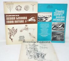 Lot of 3 DRAWING Books  Scenery Landscape Outdoors Lessons From Nature SB/HB