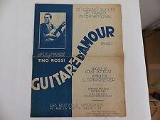 Partition Guitare d amour TINO ROSSI   POTERAT / SCHMIDSEDER