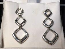 Sterling Silver diamond earrings (D-123)