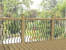 Wavy Metal Decking Panel Wavy Rail Infill Bars Spindles Steel Decking Fence