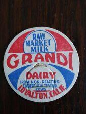 Grandi Dairy Milk Cap Loyalton, Calif.