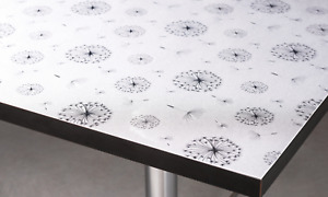 1.5mm Thick Clear Plastic Sparkle Floral Embossed Transparent Table Protector