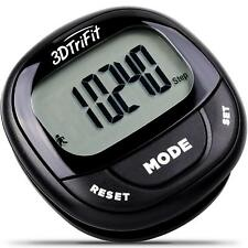 3D TriFit 3D Pedometer Fitness Activity Tracker, Pause Function & 7-Day Memory
