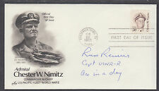Capt. Russell Reiserer, US Navy Fighter Pilot & Ace, signed Chester Nimitz FDC