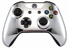 """""""Chrome Silver"""" Xbox One S / X Custom UN-MODDED Controller Unique Design"""