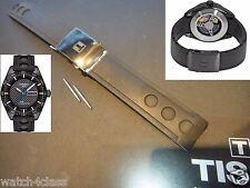 Tissot T-SPORT PRS516 PRS 516 Rubber.silicon Band.strap.bracelet+BLK buckle T100