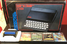 Sinclair ZX81 Computer In Original Box With 16k Ram Expansion And 4 Games