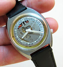SERVICED 218 ACCUTRON SPACEVIEW CRYSTAL STAINLESS STEEL TUNING FORK  WATCH N0