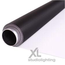 2m x 8m White+Black Photographic Background Vinyl DUO - High / Low Key