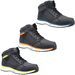 Timberland Pro Safety Boots Reaxion Mid Mens Composite Toe Cap Hiker Work Shoes
