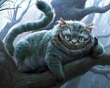 CHESHIRE CAT ALICE IN WONDERLAND A4 260GSM POSTER PRINT