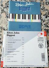 ELTON JOHN BIGGEST 1985 RARE Germany CD Rocket Man Daniel Candle In The Wind