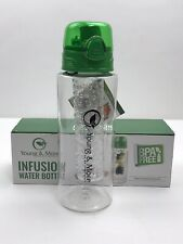 Infusion Water Bottle 28 oz BPA Free Leakproof Shatterproof Clear Green New Box