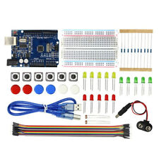 Arduino UNO R3 Electronic Learning Student Kit Prototype Building LED Breadboard