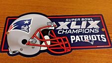 NFL NEW ENGLAND PATRIOTS SUPERBOWL XLIX CHAMPIONS LICENSE PLATE NEW
