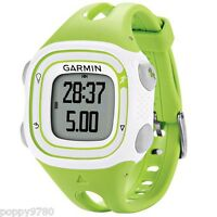 New Garmin Forerunner 10 GPS Sport Running Watch with Virtual Pacer-White/Green