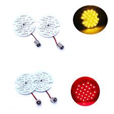 2PCS 1157-Y+2PCS 1156-R LED For Harley Davidson Turn Signal Blinker Light Bulb