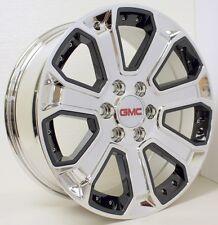 New 20 inch GMC Sierra Yukon Denali Chrome with Black Inserts Wheels Rims