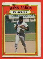 1972 Topps #300 Hank Aaron LOW GRADE CREASE Atlanta Braves FREE SHIPPING