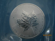 """AQUARIUS PRIVY ROMAN ZODIAC"" $5 PURE.9999 1 OZ CANADA 2004 SILVER MAPLE LEAF"