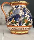 Vintage Vine Vase Ceramic Hand Made Traditional Hand Painted Italian Design 1970