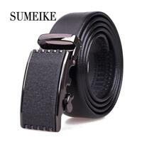 High Quality Alloy Automatic Buckle Genuine Leather Belt Men New 2018 Hot
