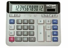 2140 12-Digit Standard Function Desk Calculator, Large Keys, Battery Solar LCD