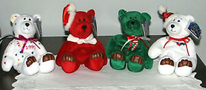 Vintage Limited Treasures Holiday Edition 98 Cute Bears Collectibles Lot of 4