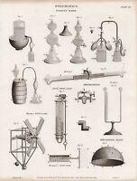 1819 Georgianisch Aufdruck ~ Pneumatik Pyrmont Wasser ~ Thermometer Wind Gage