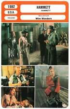 FICHE CINEMA : HAMMETT - Forrest,Boyle,Wenders 1982