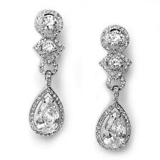 CLEARANCE Vintage Inspired Crystal Rhinestone Bridal Earrings (Sparkle-912)