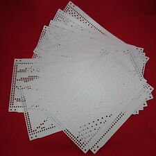 15 tarjetas de agujero Brother kh260 cuerda máquina knitting machine Punch cards original
