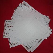15 Lochkarten Brother KH260 Strickmaschine knitting machine punch cards original