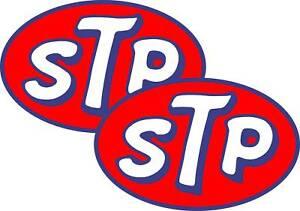 "2 x 8"" STP Stickers Decals  Car Motorbike free postage"