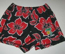 "VB Rags volleyball shorts Med youth red black floral compression 19-21"" W"