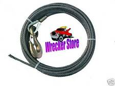 7/16 x 75' IWRC EIPS WINCH CABLE & HOOK - Steel Core for Wrecker Tow Truck Crane