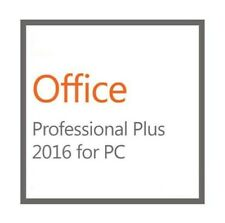 Ms Office 2016 Professional Plus Brand New Genuine License-1 Pc Install w/ Disk