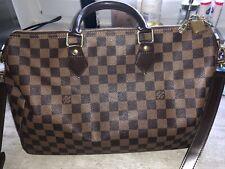 Original Louis Vuitton Speedy 35 Bandouliere Damier Ebene