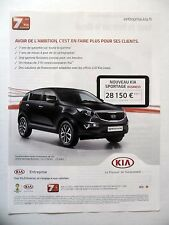 PUBLICITE-ADVERTISING :  KIA Sportage Business  2014 Voitures